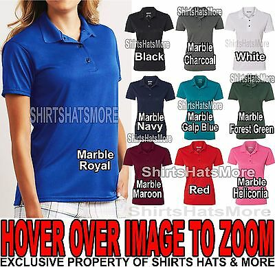 766528c0b Gildan Ladies Polo Shirt Moisture Wicking Poly 2 Button Womens Golf S-XL  2XL NEW