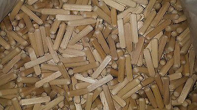 "5/16""  x 1 1/2"" grooved / fluted, wooden, dowel pin -100, 250, 500,1000  wood"