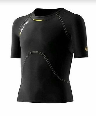 SKINS A400 YOUTH Boys Short Sleeve Compression Top NWT