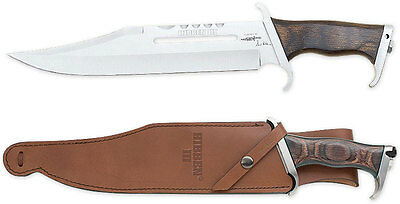 "Gil Hibben III Rambo Bowie Knife 11"" Blade and Leather Sheath GH201"