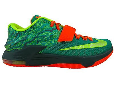 separation shoes dce8b 957b2 NIKE KD KEVIN Durant VII 7 Weatherman 653996-303 Green Orange Shoes Sneakers