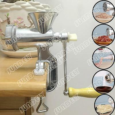 Heavy Duty Hand Operated Meat Mincer Grinder Kitchen Beef Maker Metal Sausage