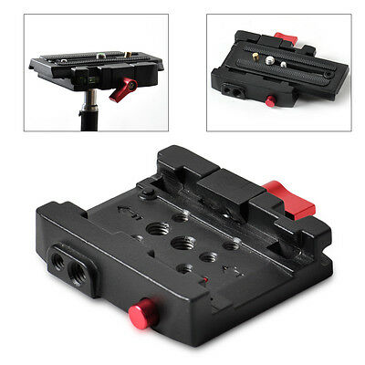 New Rapid Connect Adapter Clamp Quick Release for Manfrotto 501PL 503HDV 701HDV