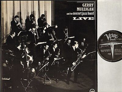GERRY MULLIGAN AND THE CONCERT JAZZ BAND live 2683 057 uk verve DOUBLE LP EX/VG
