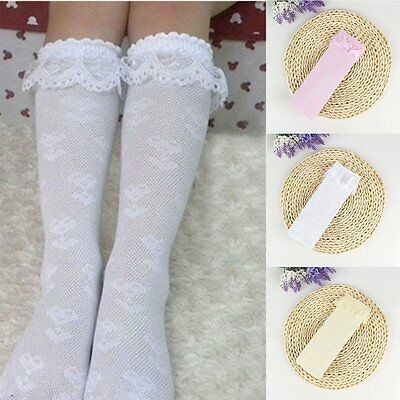 Kids Girls Princess Lace Floral Knee High Socks Tights Hosiery Stockings 3T-12T