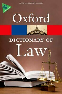 A Dictionary of Law (Oxford Quick Reference) by Martin, Elizabeth A Book The