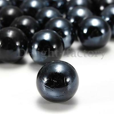10Pcs 16mm Black Classic Game Glass Marbles Child Toy Gift Fish Tank Decoration