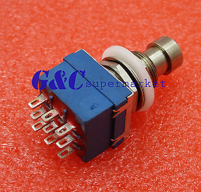 9-pin 3PDT Guitar Effects Pedal Box Stomp Foot Metal Switch True Bypass