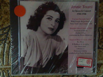 Jennie Tourel In Opera And Concert 1944-1946 - Cd Nuovo (Sealed)