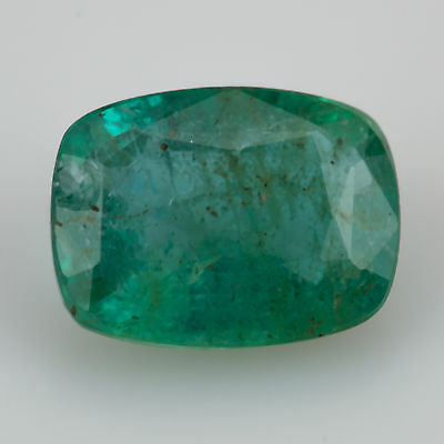 1.13 ct Emerald 7.72x5.80mm Si1 Natural loose blue green Zambian gemstone