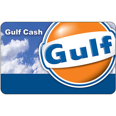 $100 Gulf Gas Physical Gift Card - Standard 1st Class Mail Delivery