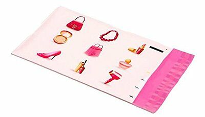 50 6x9 Pink Make Up Designer Mailers Poly Shipping Envelopes Boutique Bags