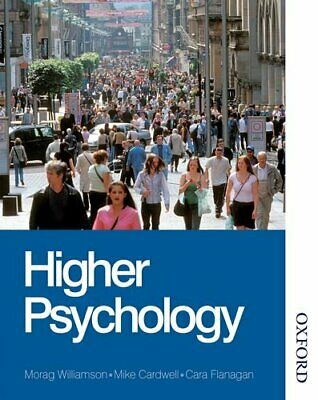 Higher Psychology by Williamson, Morag Paperback Book The Cheap Fast Free Post