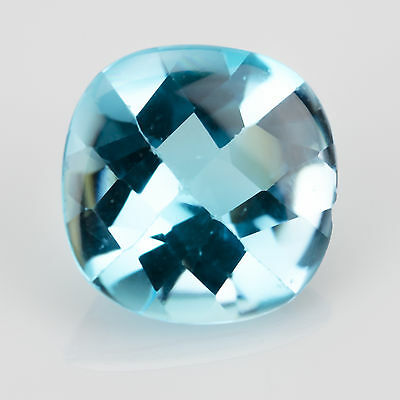 14.28ct Large Swiss Blue Topaz Mixed cut 14.90x14.81mm Natural loose gemstone