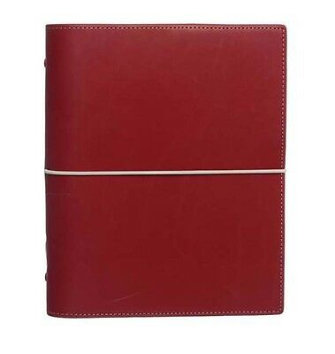 Filofax Domino A5 Organiser Red Smooth Leather & Four Credit Card Pocket