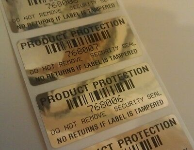 250 Product Protection No Returns If Tampered Void Security Labels Seal Stickers