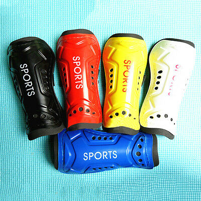 Kids Mens Athletic Soccer Football Shin Guards Pads Shinguard Ankle Protector WB