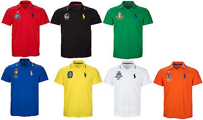 Ralph Lauren Mens Moisture Wicking Big Pony Country Crest Sport Slim Polo Shirt