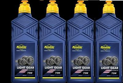 PUTOLINE MOTORCYCLE LIGHT GEAR BOX SYNTHETIC FORTIFIED SAE 75W OIL 4 x 1 LITRE