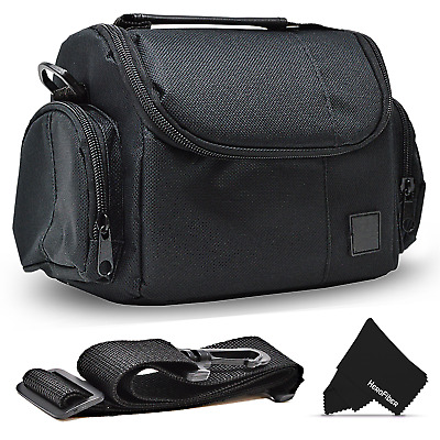 Well Padded Camera Case Bag w/ Zippered Pockets for Canon DSLR Cameras