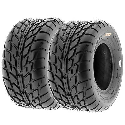 Pair of (2) 18x9.5-8 18x9.5x8 ATV Street & Flat Track 6 Ply Tires A021 by SunF