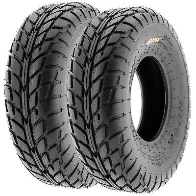 Pair of (2) 19x6-10 19x6x10 ATV Street & Flat Track 6 Ply Tires A021 by SunF