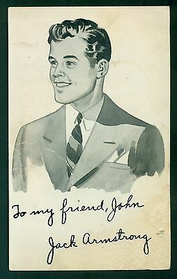 "1940's General Mills Jack Armstrong ""All-American Boy"" Personalized Picture Card"