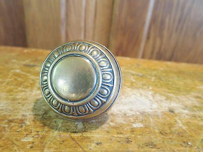 Vtg Victorian Brass Egg and Dart Art Nouveau Door Knob