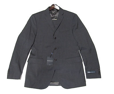 $1,595 Polo Ralph Lauren Mens Italy Charcoal Grey 3 Button Wool Suit 40L 44L New