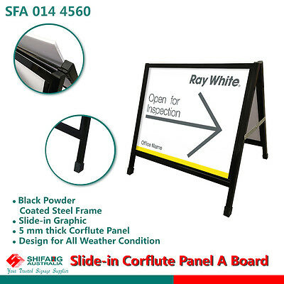 Corflute Panel Steel A Frame/A Board(450x600)/sign board /sandwitch board