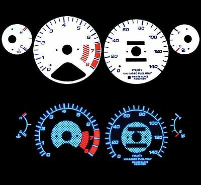 NEW 94-95 Honda Accord MT/AT Blue Indiglo Glow White Gauges