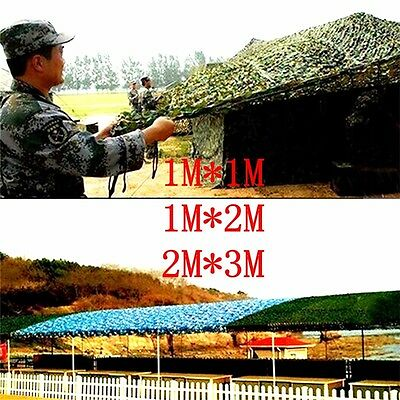 Military Camouflage Net Woodlands Leaves Camo Cover for Camping Hunting 3Size