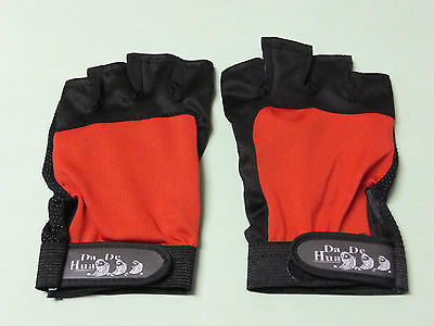 Finger less,anti slip fishing glove(red and blue)