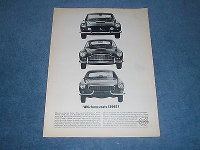 """1963 Volvo P1800 Vintage Ad """"Which One Costs $3995?"""""""