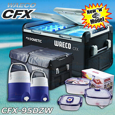 New Waeco Cfx-95Dzw Fridge Freezer Portable 12V 240V Volt + Cover + Bonus Pack