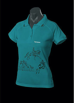 """***heels Down Clothing***personalised """"eventing"""" Polo..all Sizes"""