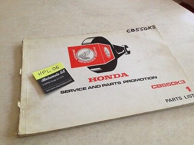 Honda CB550K3 A CB550 four K3 CB 550 parts list liste catalogue pièce détachée
