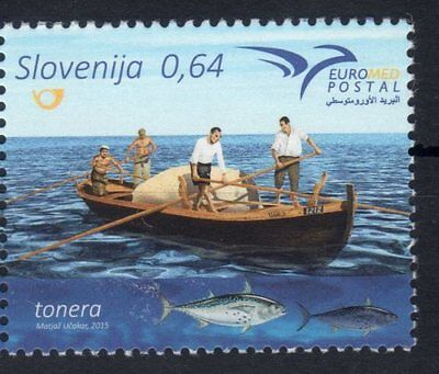 2015 joint issue euromed postal slovenia MNH**