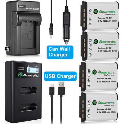 NP-BX1 Battery  Charger for Sony Cyber-Shot DSC-RX100 II III HDR-AS100V AS15/10