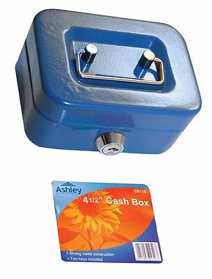 "4.5"" Petty Money Bank Deposit Steel Box Cash Safe Include 2 Keys Carboot Box"