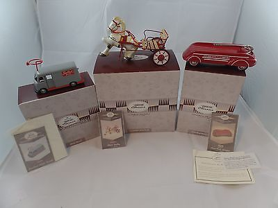 Lot of 3 Hallmark Kiddie Car Classics Sidewalk Cruisers Collection / Limited Ed