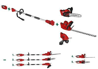 Telescopic 5in1 Garden Combo Device Hedge Trimmer Pruner Lawn Trimmer Chainsaw
