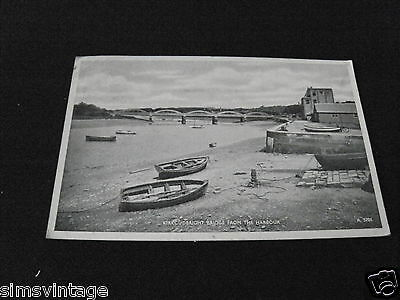 Scotland B Postcard Kircudbright Bridge from the Harbour 1951