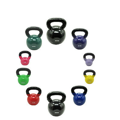 32kg Vinyl Iron Cast Kettlebell Weight Set - Russian Style Kettle Weight Set