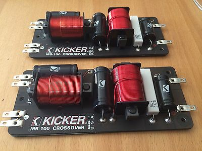 Kicker Mb-100 Coppia Crossover Passivo Medio Basso Introvabile Made In Usa