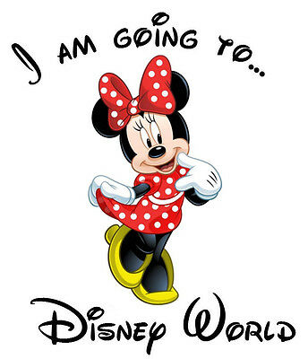 ***i'm Going To Disney  Minnie Mouse Vacation****fabric/t-Shirt Iron On Transfer