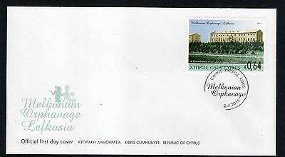 2015 joint issue CYPRUS ARMENIA MELKONIAN ORPHANAGE FDC