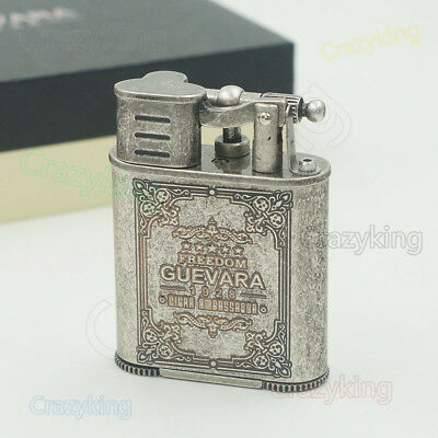 Vintage Silver 2 Torch Jet Flame Grinding Wheel Cigar Lighter With Punch Cohiba