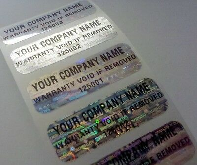250 Custom Print Warranty Void Tamper Proof Labels Stickers Seals 1.5 X .50 In.