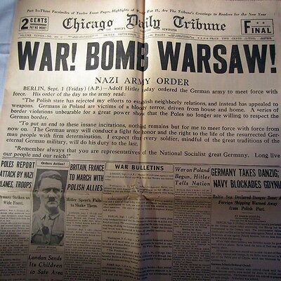 Chicago Daily Tribune 1945 Commemorative Issue 12 Front Pages Highlights of WWII